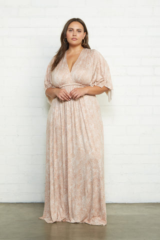 Long Caftan Dress - Snake, Plus Size