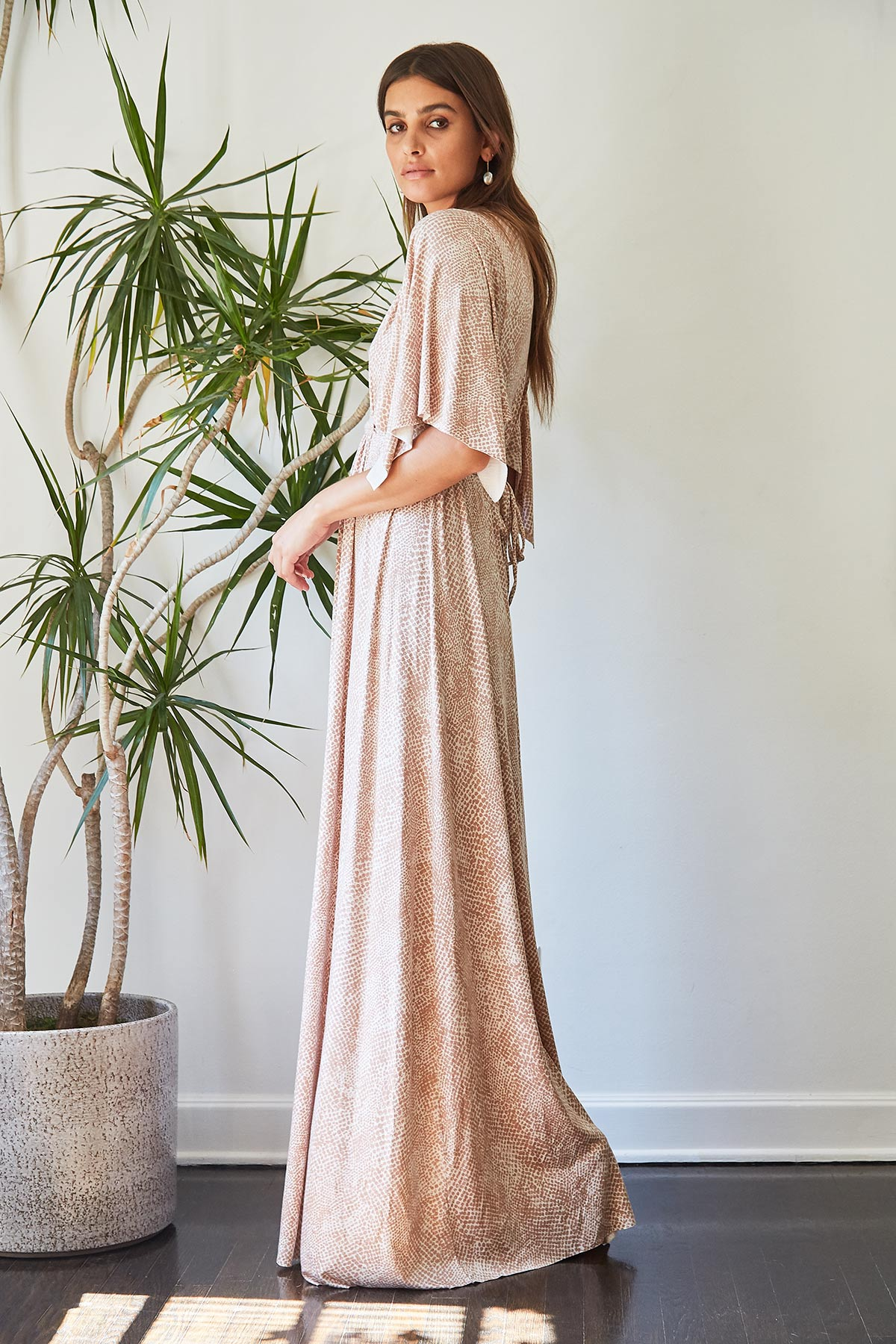 Long Caftan Dress - Snake