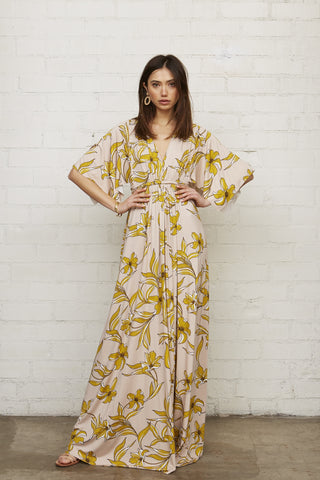 7c77eeab3b ... Kimono Butterfly Dress: Funky Elegant Collection No.1s. Long Caftan  Dress - Striped Lily .
