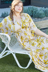 Long Caftan Dress - Striped Lily, Plus Size