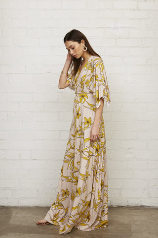 Long Caftan Dress - Striped Lily