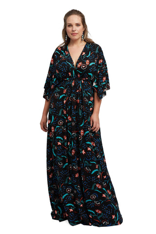 Long Caftan Dress - Vine, Plus Size
