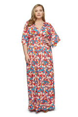 Long Caftan Dress WL Print - Tropic