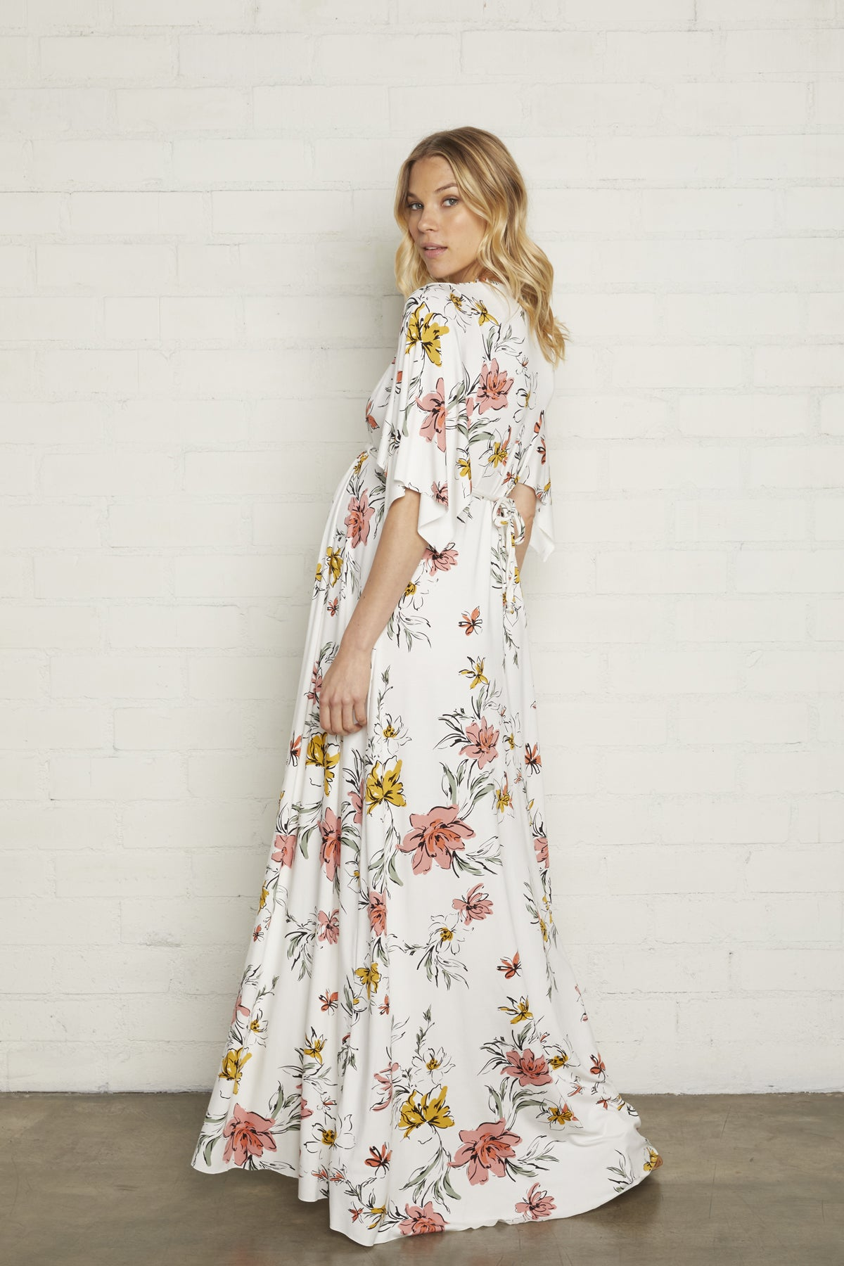 Long Caftan Dress - Wildflower, Maternity