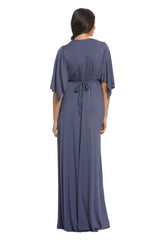 Long Caftan Dress - Slate, Maternity
