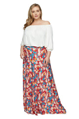 Long Full Skirt WL Print - Tropic