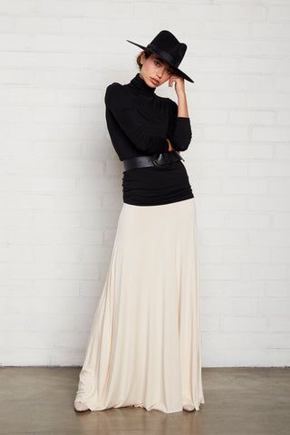 Long Full Skirt - Cream