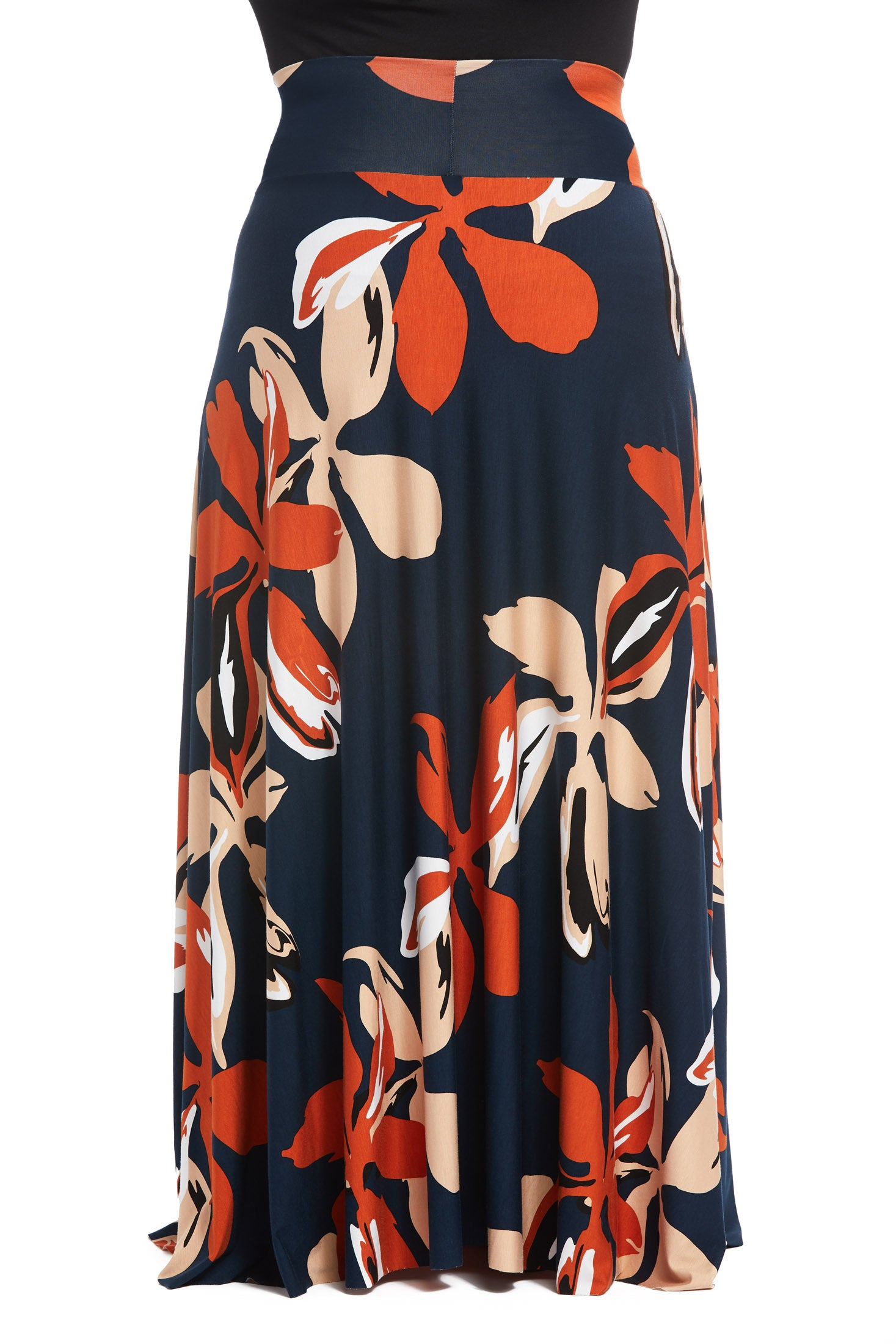 Long Full Skirt - Pop Floral, Plus Size