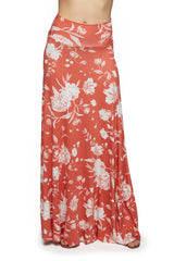 Long Full Skirt Print - Chipotle Peony