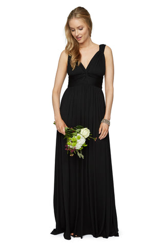 LONG JO DRESS - BLACK