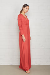 Long Sleeve Full Length Caftan Dress - Mineral
