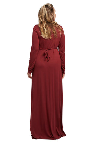 Long Sleeve Full Length Caftan - Gamay, Plus Size