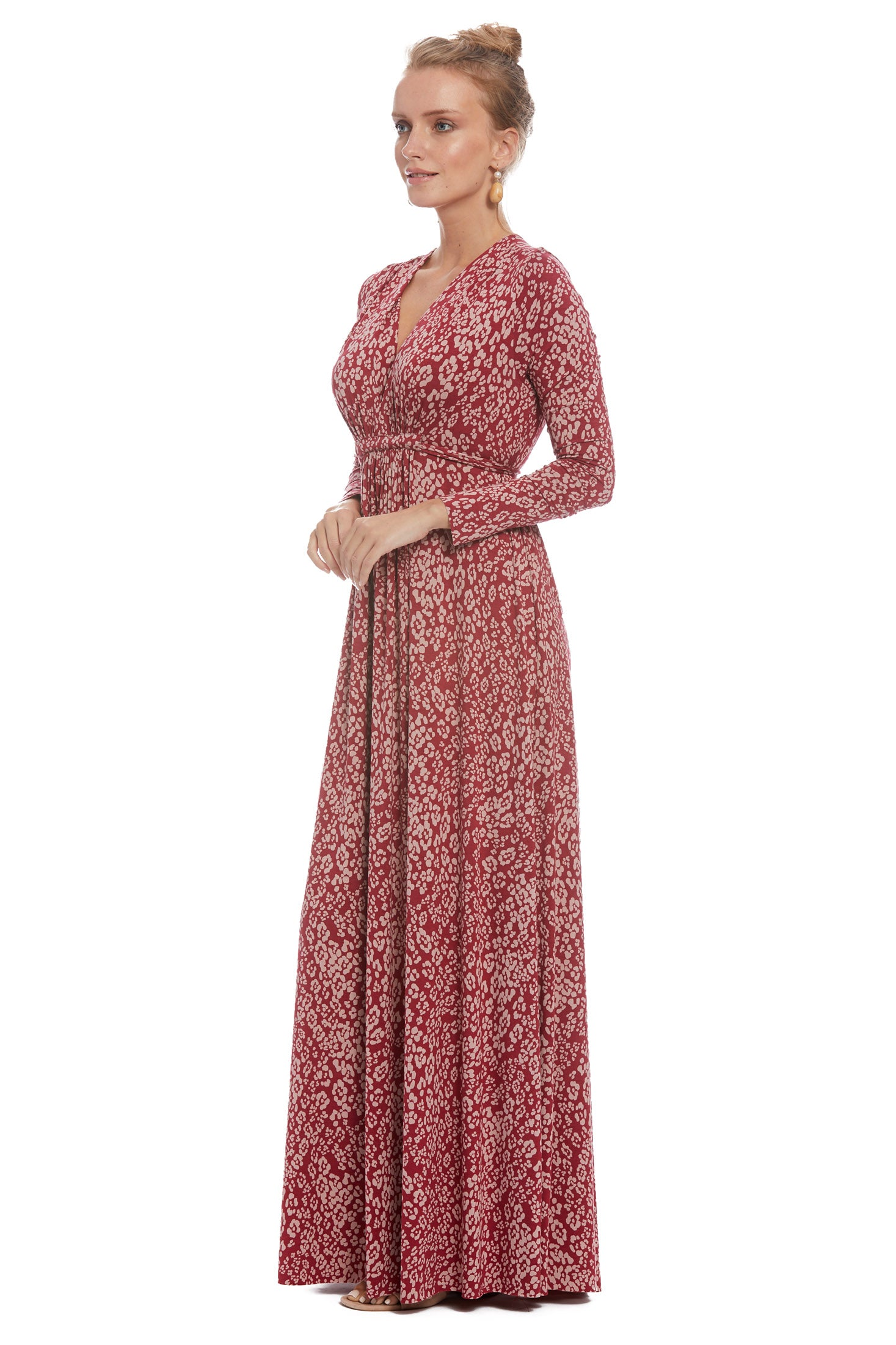 Long Sleeve Full Length Caftan - Mau