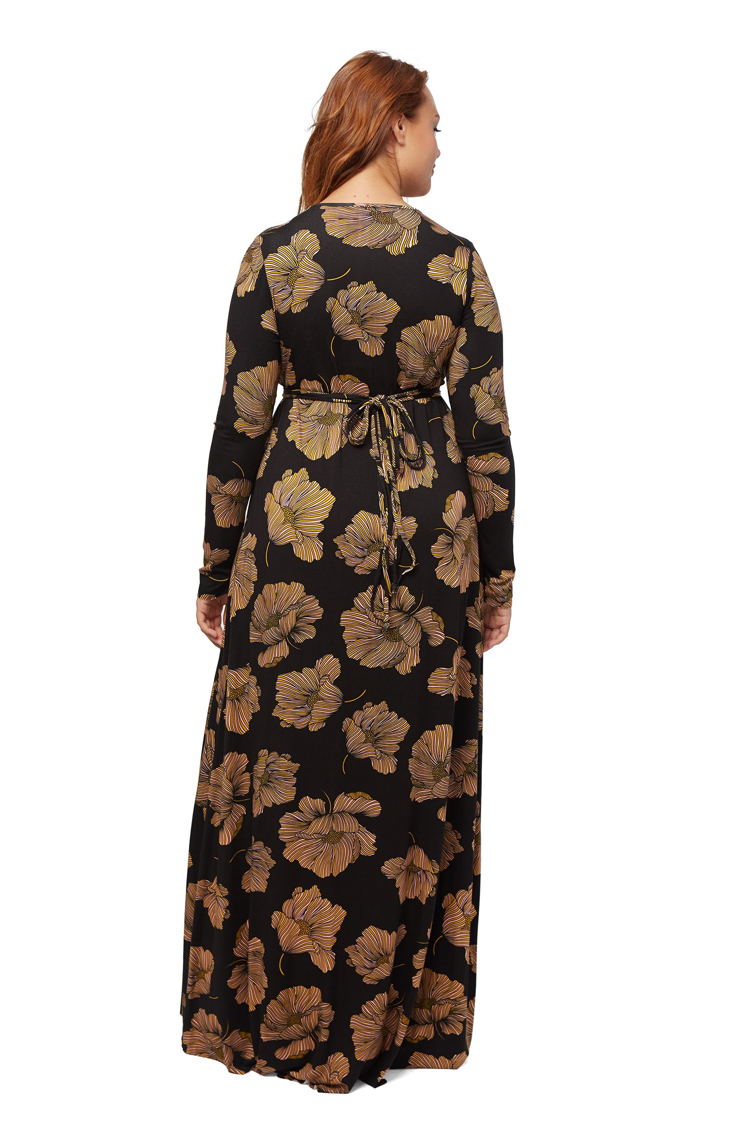 Long Sleeve Full Length Caftan WL - Matilija