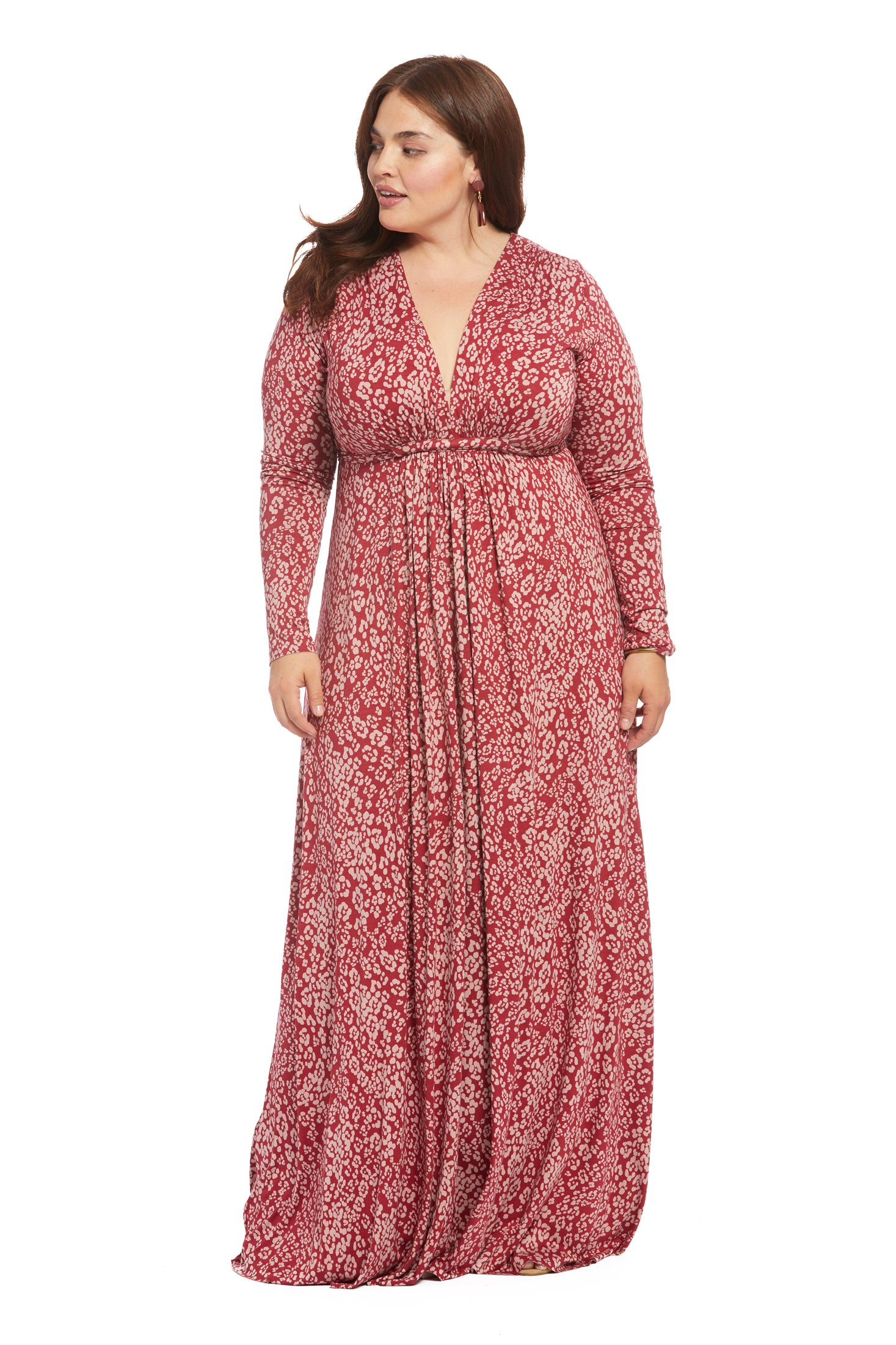 Long Sleeve Full Length Caftan - Mau, Plus Size