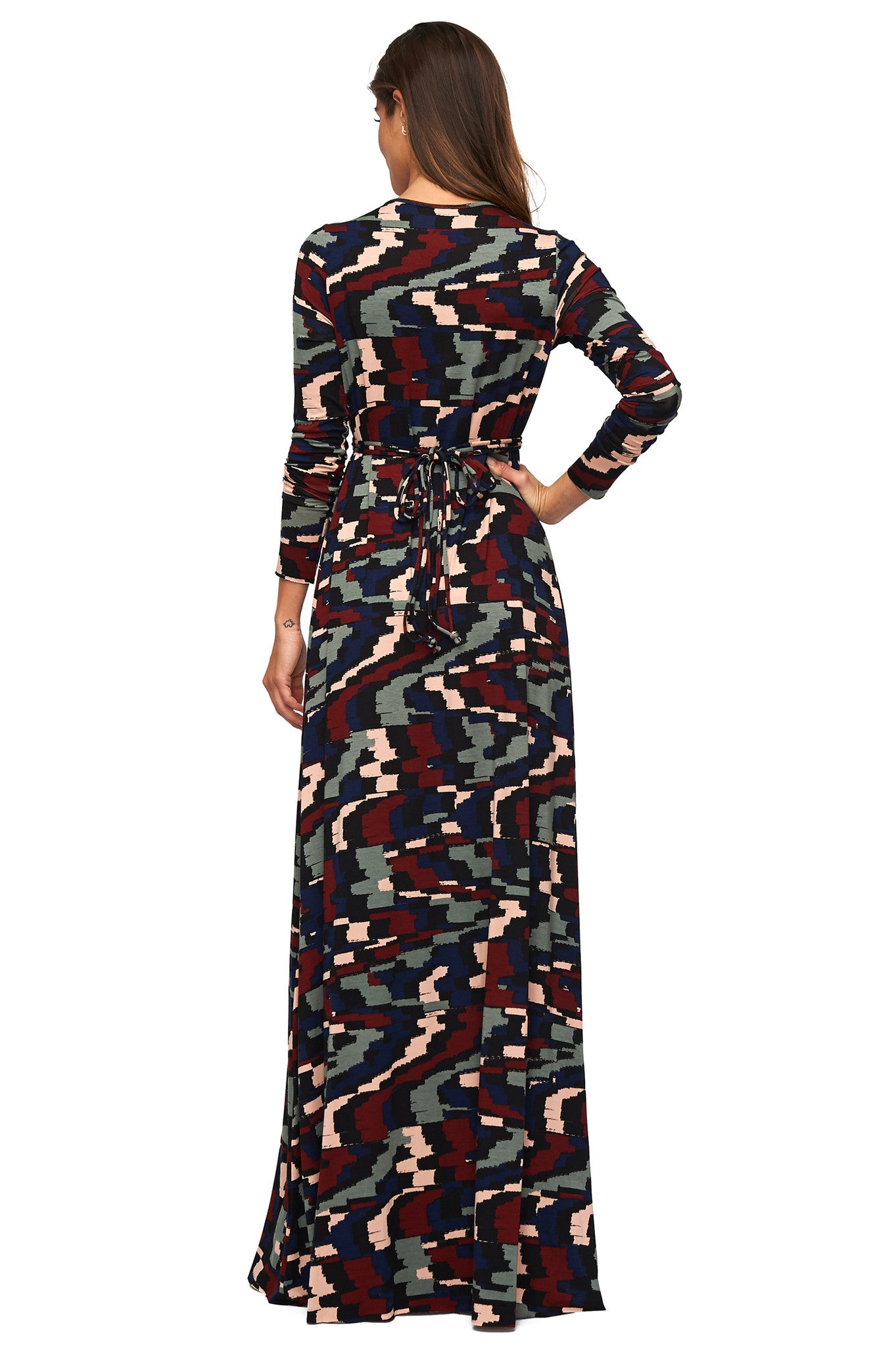 Long Sleeve Full Length Caftan - Pulse