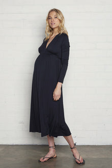 Long Sleeve Mid-Length Caftan - Maternity