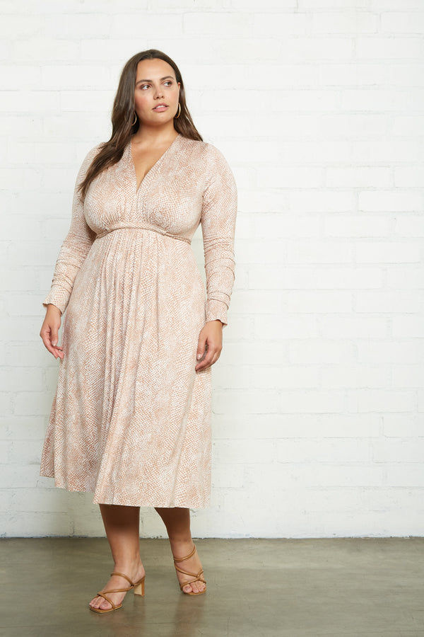 Long Sleeve Mid-Length Caftan - Plus Size