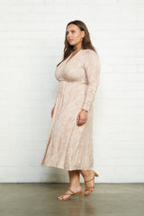 Long Sleeve Mid-Length Caftan - Snake, Plus Size