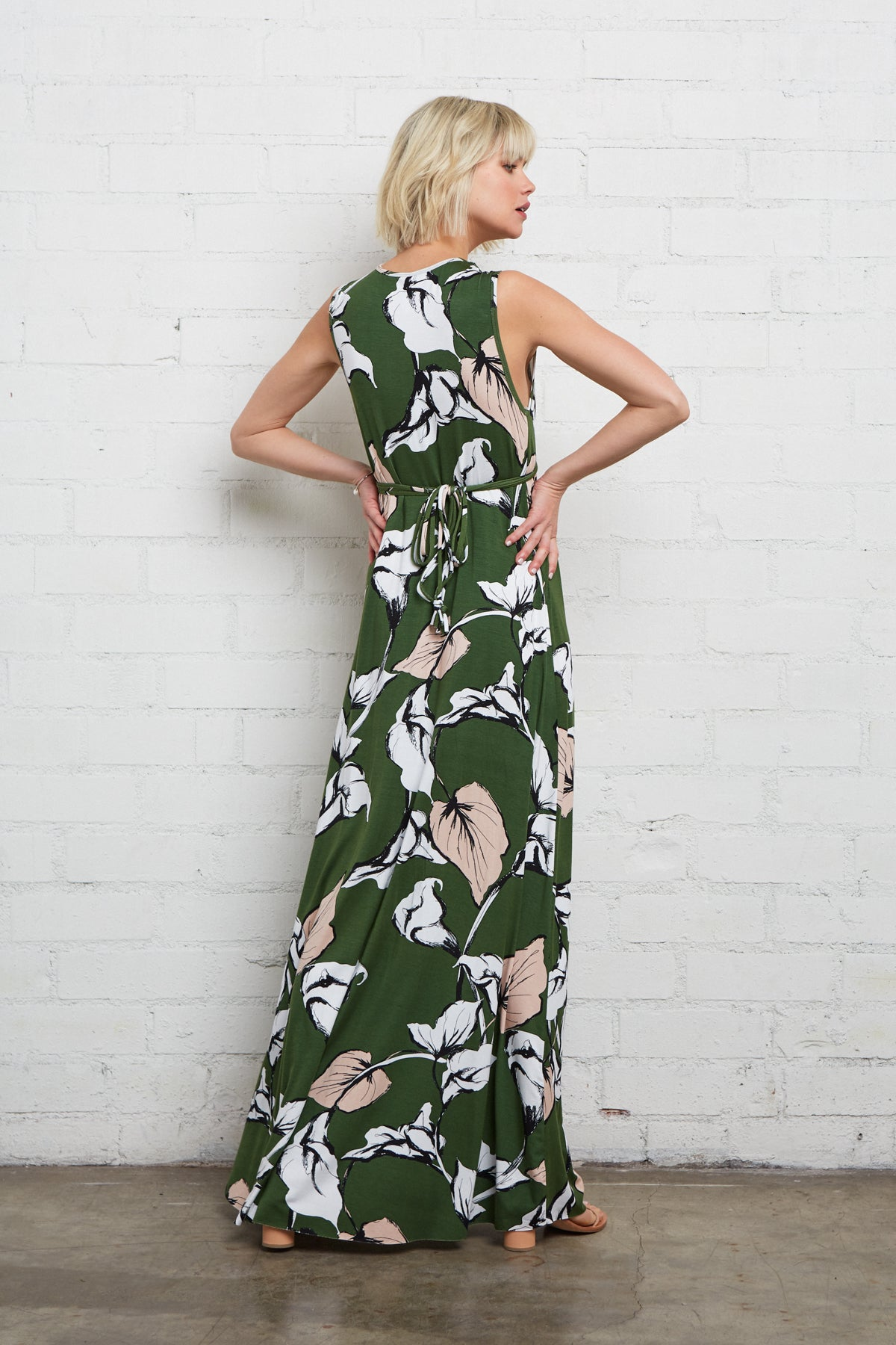 Long Sleeveless Caftan - Calla Print