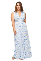 Long Sleeveless Caftan WL Print - Delta Medallion