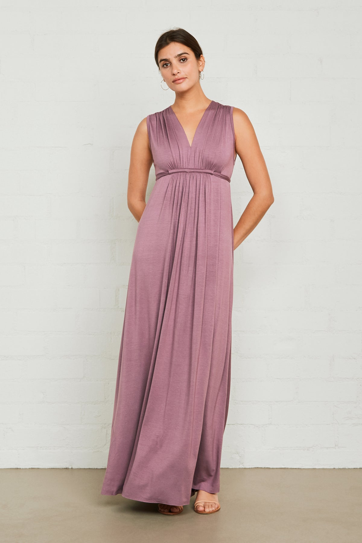 Long Sleeveless Caftan Dress - Orchid