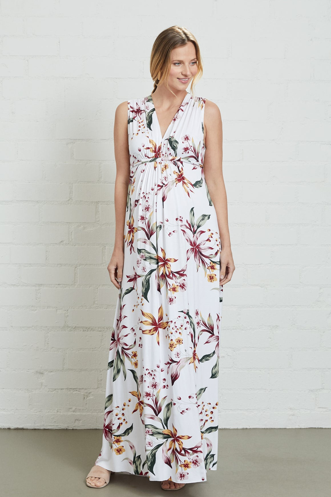 Long Sleeveless Caftan Dress - Maternity
