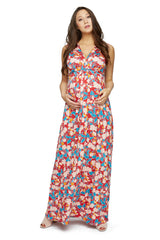 Long Sleeveless Caftan Print - Tropic