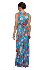 Long Sleeveless Caftan Print - Rose