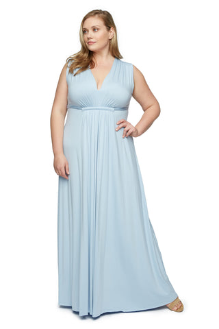 LONG SLEEVELESS CAFTAN DRESS WL - Cielo