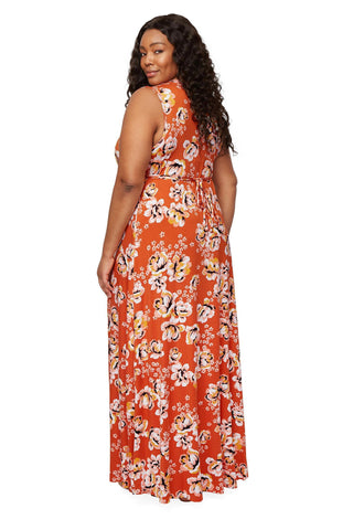 Long Sleeveless Caftan - Zahara, Plus Size