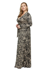 Long Wrap Dress WL - Etch Print