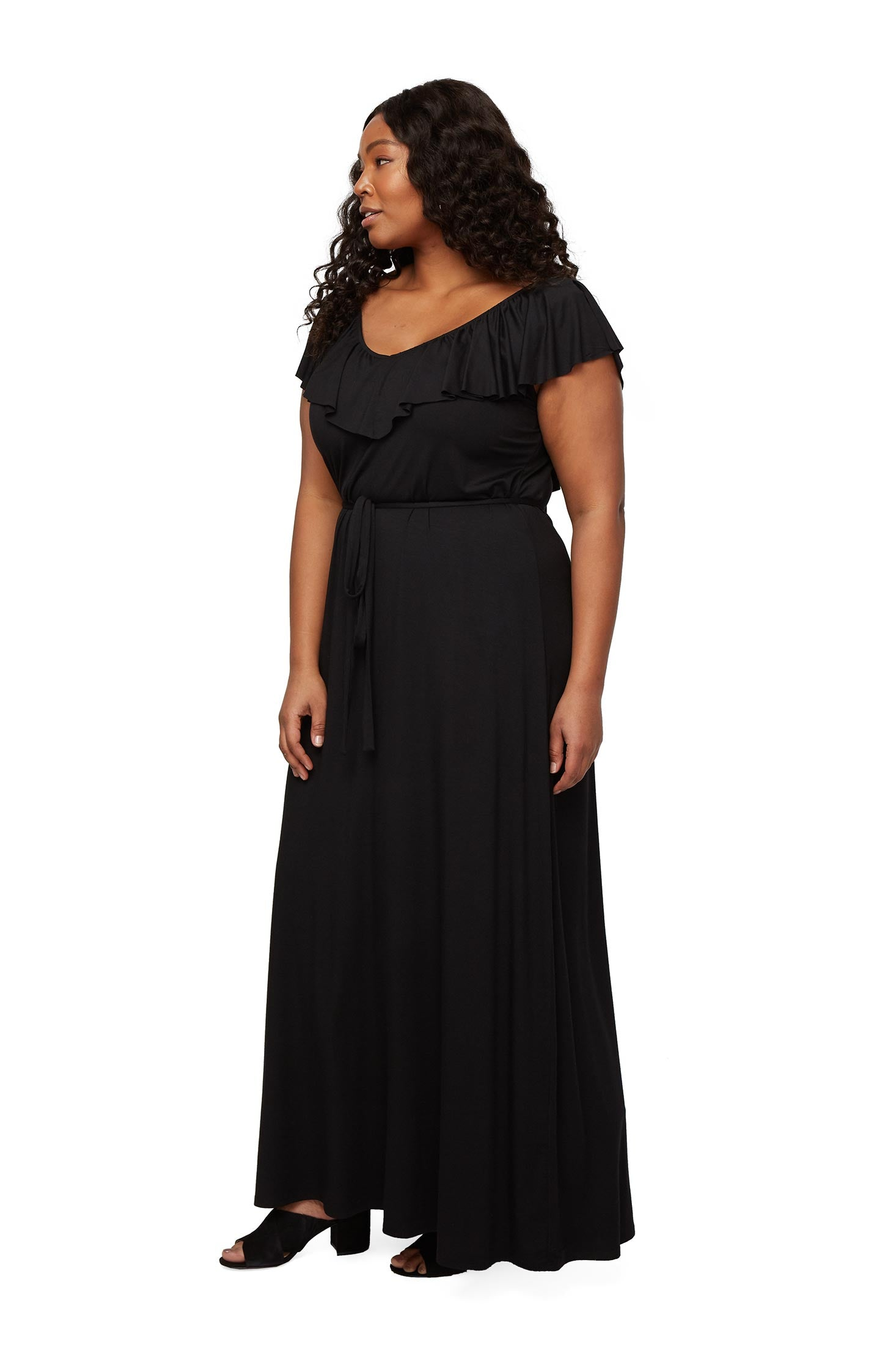Loren Dress - Black, Plus Size