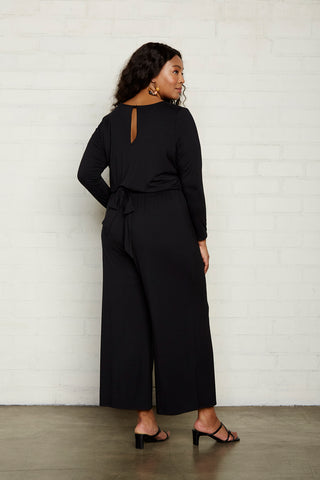 Lucas Jumpsuit - Black, Plus Size