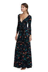 Luna Wrap Dress - Vine