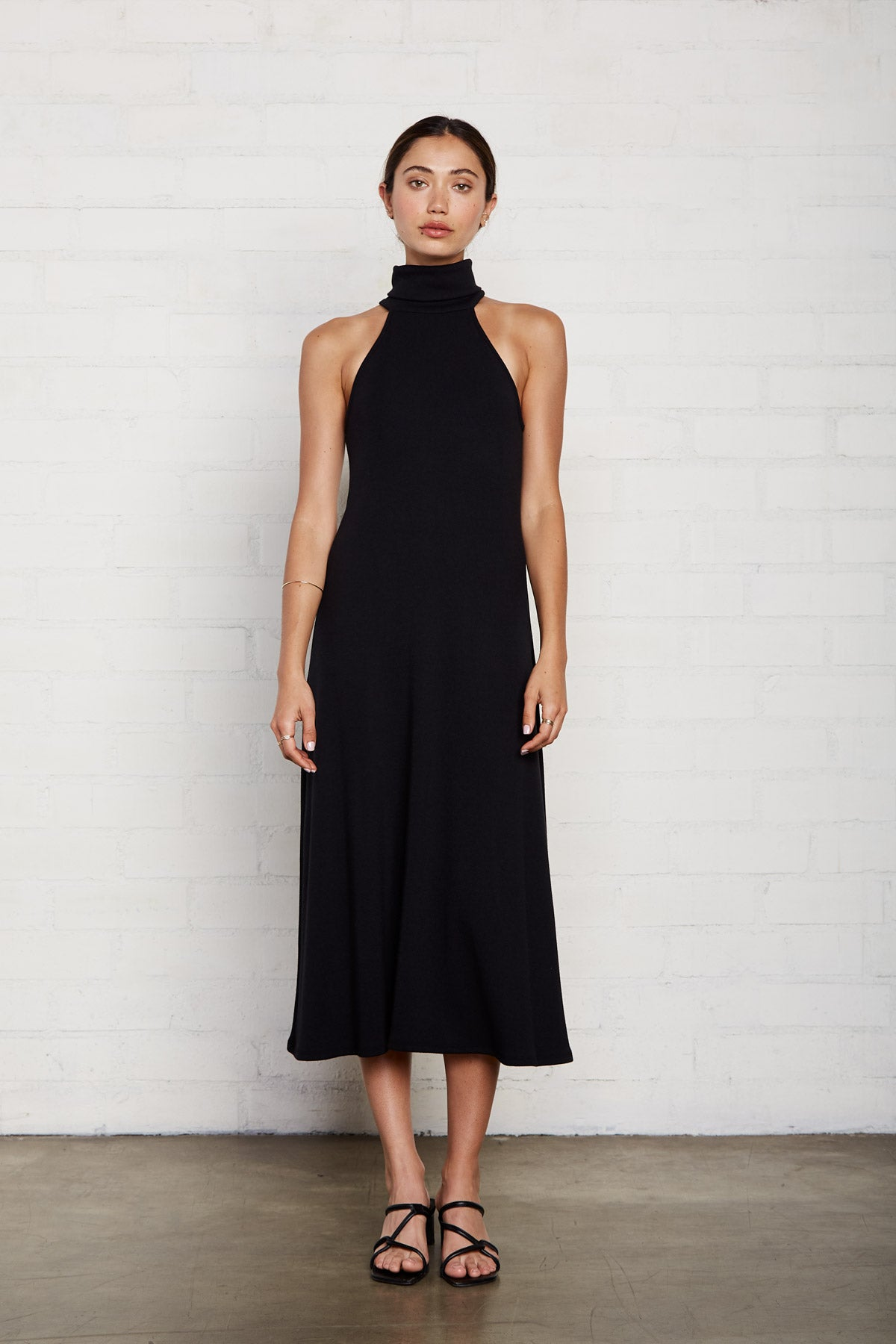Luxe Rib Alondra Dress - Black