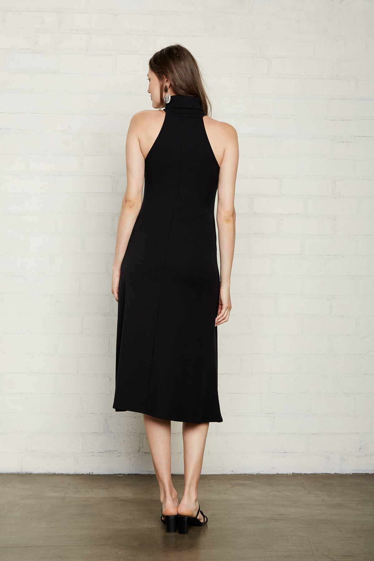 Luxe Rib Alondra Dress - Black, Maternity