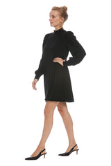 Luxe Rib Genevieve Dress - Black