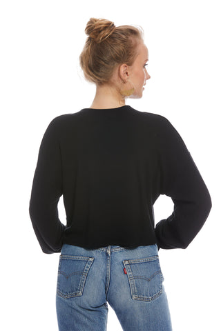 Luxe Rib Sweatshirt - Black