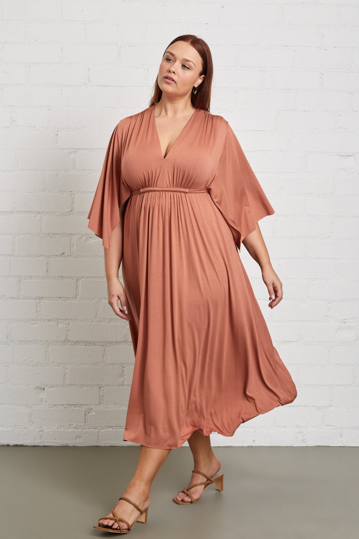 Mid-Length Caftan Dress - Plus Size