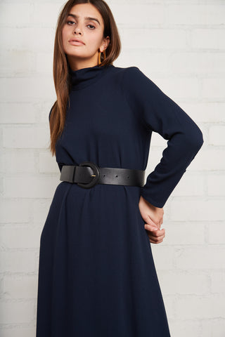 Pucker Rayon Celeste Dress - Midnight