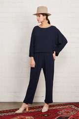 Pucker Rayon Cisco Top - Midnight