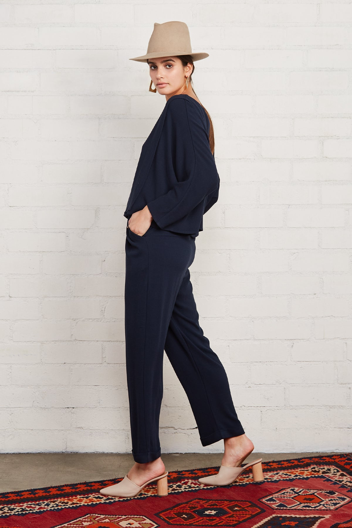 Pucker Rayon Mikko Pant - Midnight