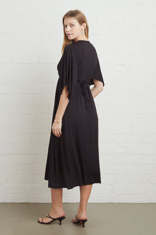 Mid-Length Caftan - Black, Maternity