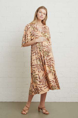 Mid-Length Caftan Dress - Palm, Maternity