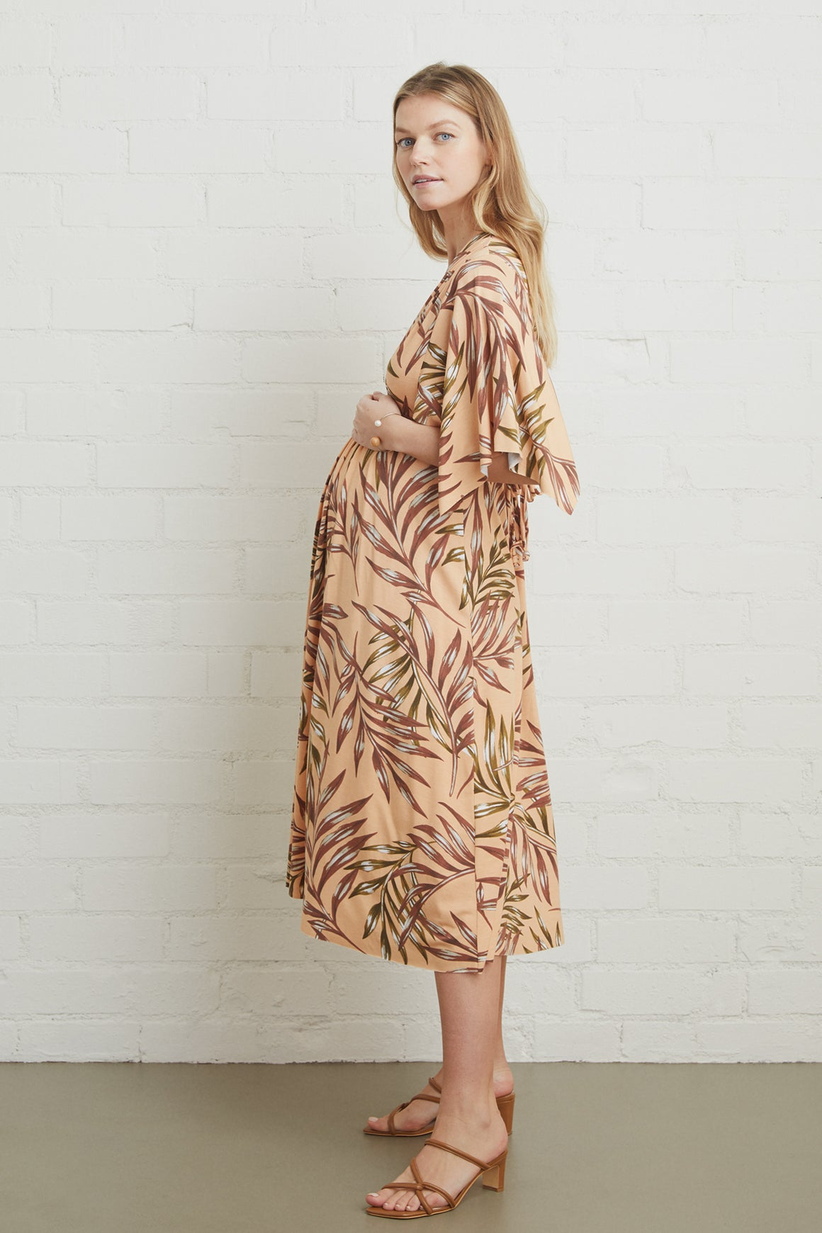 Mid-Length Caftan Dress - Maternity