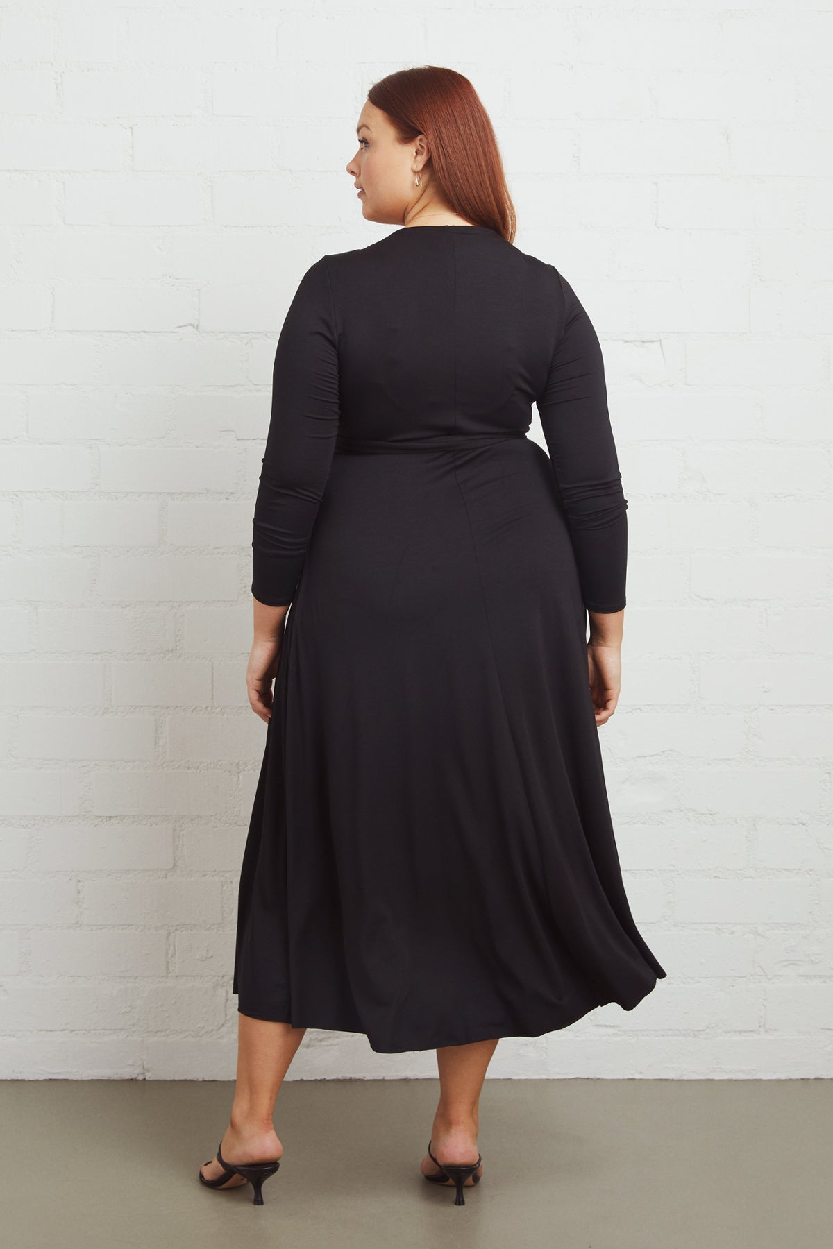 Mid-Length Harlow Dress - Black, Plus Size