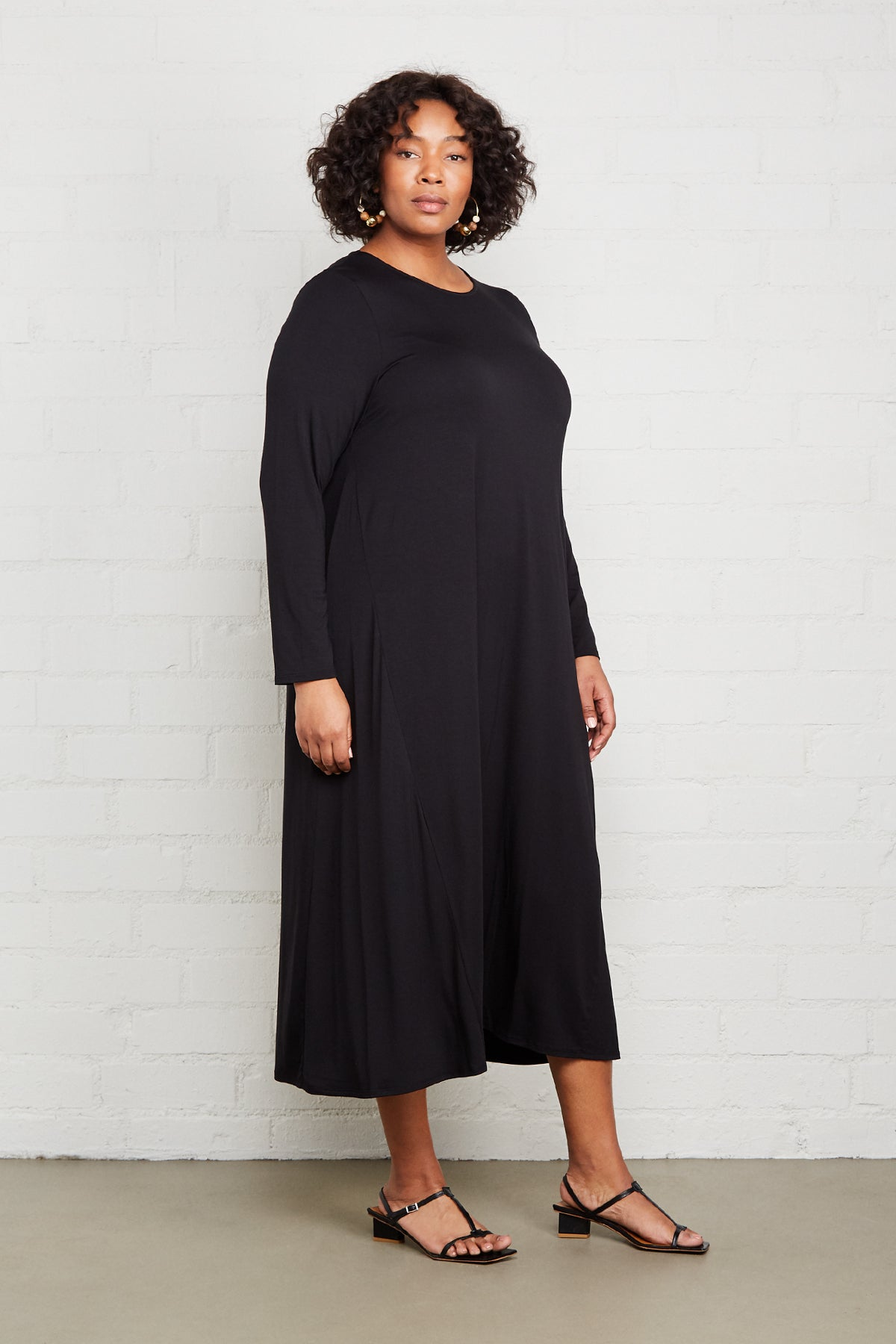 Mid-Length Stormy Dress - Black, Plus Size