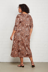 Mid-Length Stormy Dress - Leopard, Plus Size