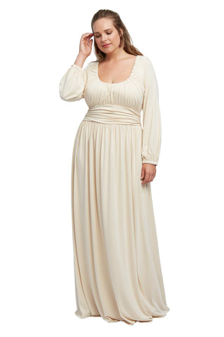 Mallory Dress - Cream, Plus Size